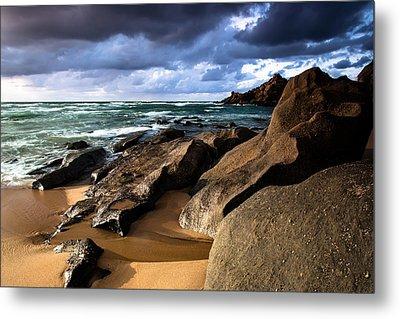 Between Rocks And Water Metal Print