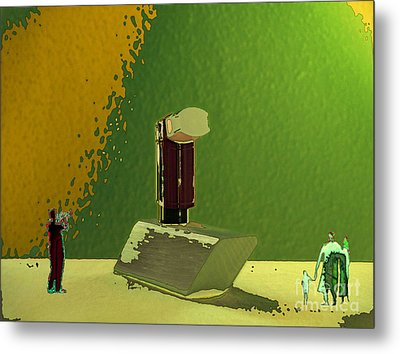 Between Shyness And Curiosity Metal Print