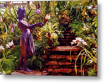 Between The Steps Metal Print