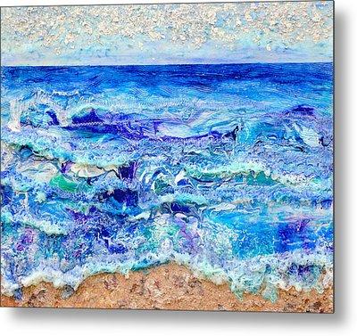 Betwixt Sand And Sky Metal Print by Regina Valluzzi