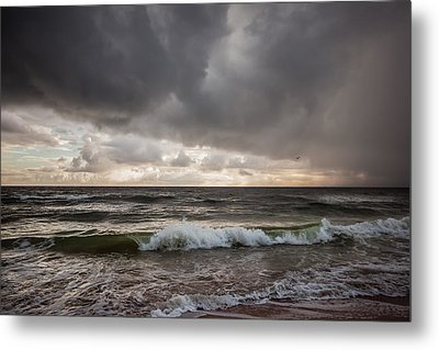 Beverly Beach Storm Metal Print by Maria Robinson