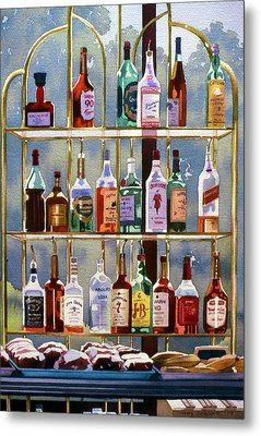 Beverly Hills Bottlescape Metal Print by Mary Helmreich