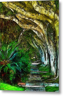 Beverly Hills Jungle Metal Print by Cary Shapiro