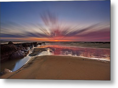 Bexhill Sunburst Metal Print by Mark Leader