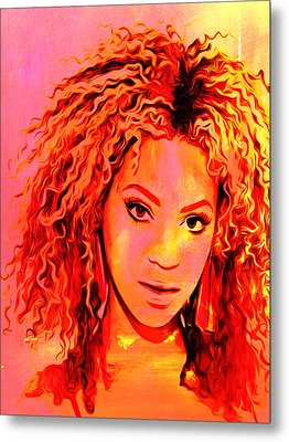 Metal Print featuring the painting Beyonce by Brian Reaves