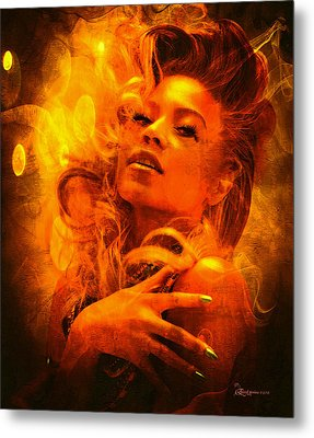 Beyonce Knowles Wrapped In Chocolate - Featured In Comfortable Art Group Metal Print by EricaMaxine  Price