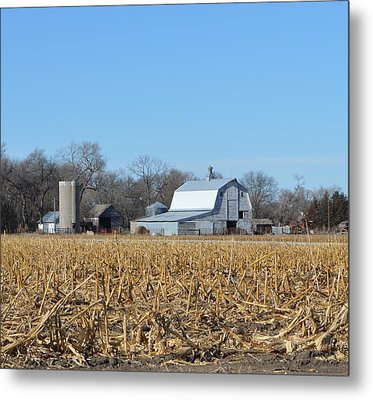 Beyond The Cornfield Metal Print