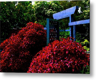 Beyond The Garden Gate Metal Print by James Temple