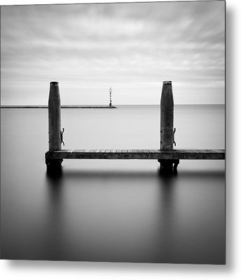 Beyond The Jetty Metal Print by Dave Bowman