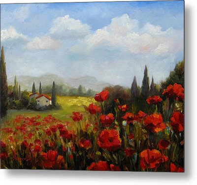 Beyond The Poppies Metal Print by Chris Brandley
