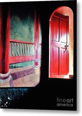 Beyond The Red Door Metal Print by Ronnie Glover