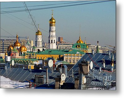 Beyond The Rooftops 2 Metal Print by Anna Yurasovsky