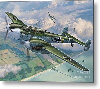 Bf-110 Zerstorer Metal Print by Stu Shepherd