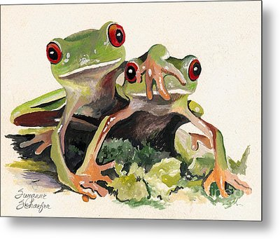 Bff Froggies Metal Print by Suzanne Schaefer