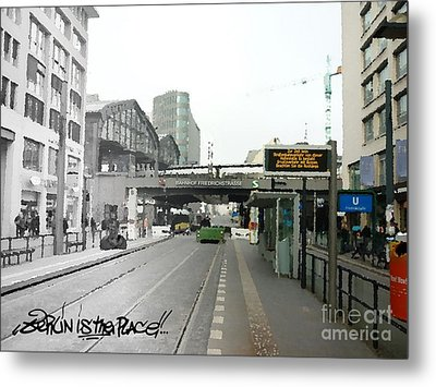 Bhf. Friedrichstrasse  - Berlin Is The Place...series Metal Print by Color and Vision