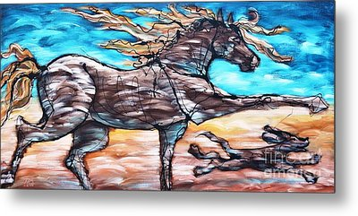Bhound To Get There Metal Print by Jonelle T McCoy