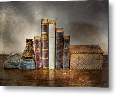 Bibles And Hymnbooks Metal Print by David and Carol Kelly