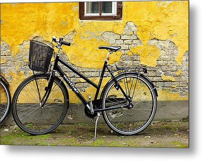 Metal Print featuring the photograph Bicycle Aarhus Denmark by John Jacquemain