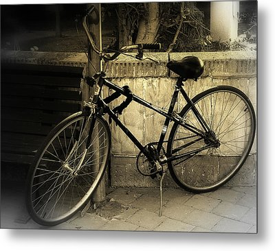 Bicycle Metal Print by Amr Miqdadi
