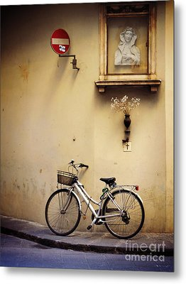 Bicycle And Madonna Metal Print