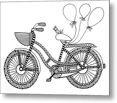 Bicycle Baloons Metal Print by Neeti Goswami
