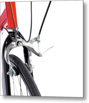 Bicycle Brakes Metal Print