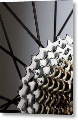 Bicycle Cassette Metal Print