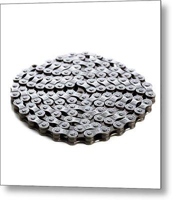 Bicycle Chain Metal Print