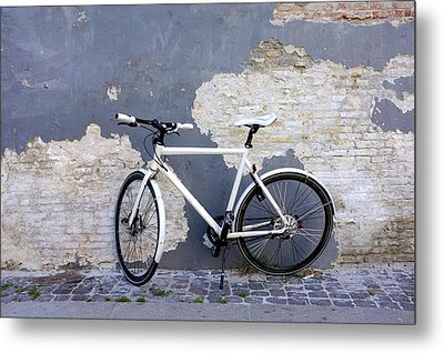 Bicycle Copenhagen Denmark Metal Print by John Jacquemain