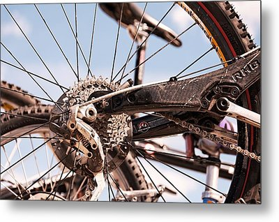 Metal Print featuring the photograph Bicycle Gears by Trever Miller