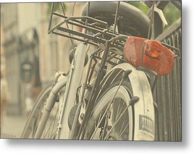Bicycle Lane Metal Print