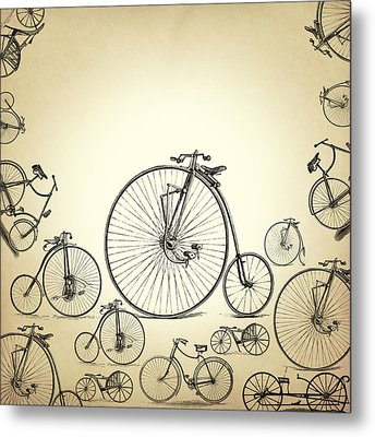 Bicycle Metal Print by Mark Ashkenazi