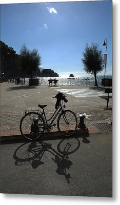 Bicycle Monterosso Italy Metal Print by John Jacquemain