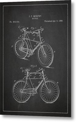 Bicycle Patent Metal Print by Aged Pixel