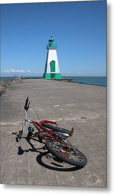 Bicycle Port Dalhousie Ontario Metal Print by John Jacquemain