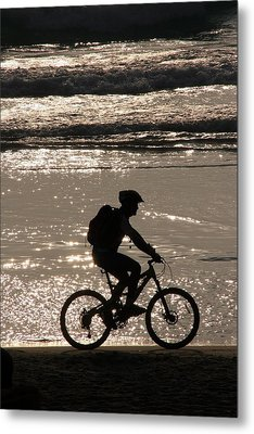 Bicycle Rider Metal Print