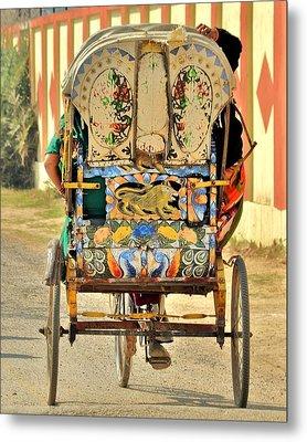 Bicycle Rikshaw - Kumbhla Mela - Allahabad India 2013 Metal Print