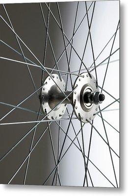 Bicycle Wheel Hub Metal Print by Science Photo Library