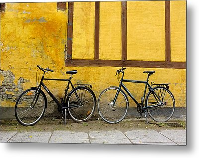 Metal Print featuring the photograph Bicycles Aarhus Denmark by John Jacquemain
