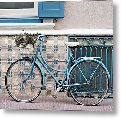 Vintage Bicycle Photography - Bicycles Are Not Only For Summer Metal Print