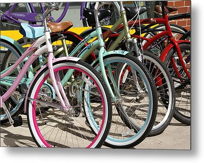 Bicycles Metal Print by Thomas Fouch