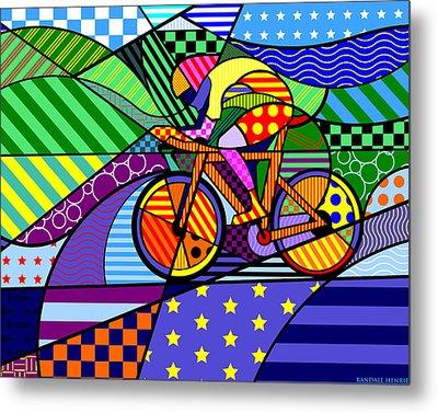 Bicycling Metal Print