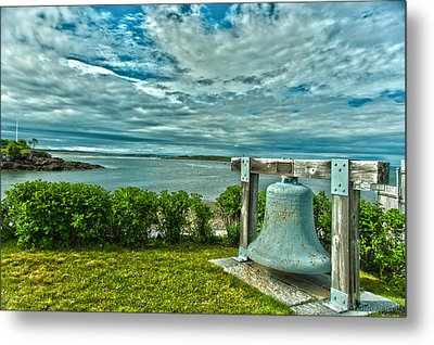 Biddeford Pool Bell Metal Print by Brenda Jacobs