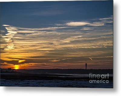 Biddeford Pool Maine Sunset Metal Print by Patrick Fennell