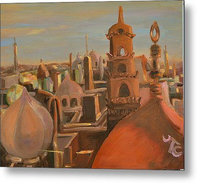 Metal Print featuring the painting Bienvenue Au Caire by Julie Todd-Cundiff