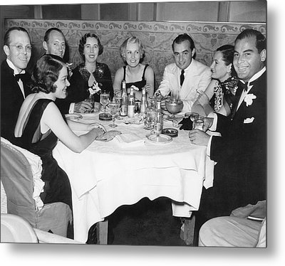 Big Band Dining In La Metal Print by Underwood Archives
