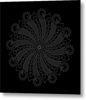 Big Bang Inverse Metal Print by DB Artist