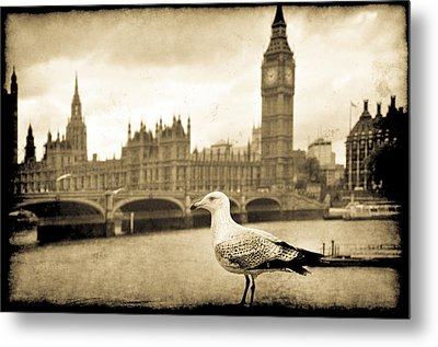 Big Ben And The Seagull Metal Print