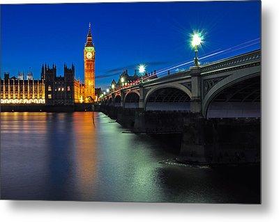 Big Ben And Westminster Bridge Metal Print