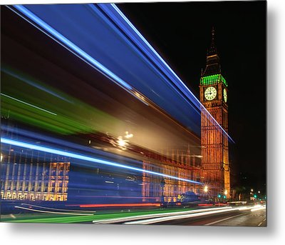 Big Ben Light Trails Metal Print by Ivelin Donchev